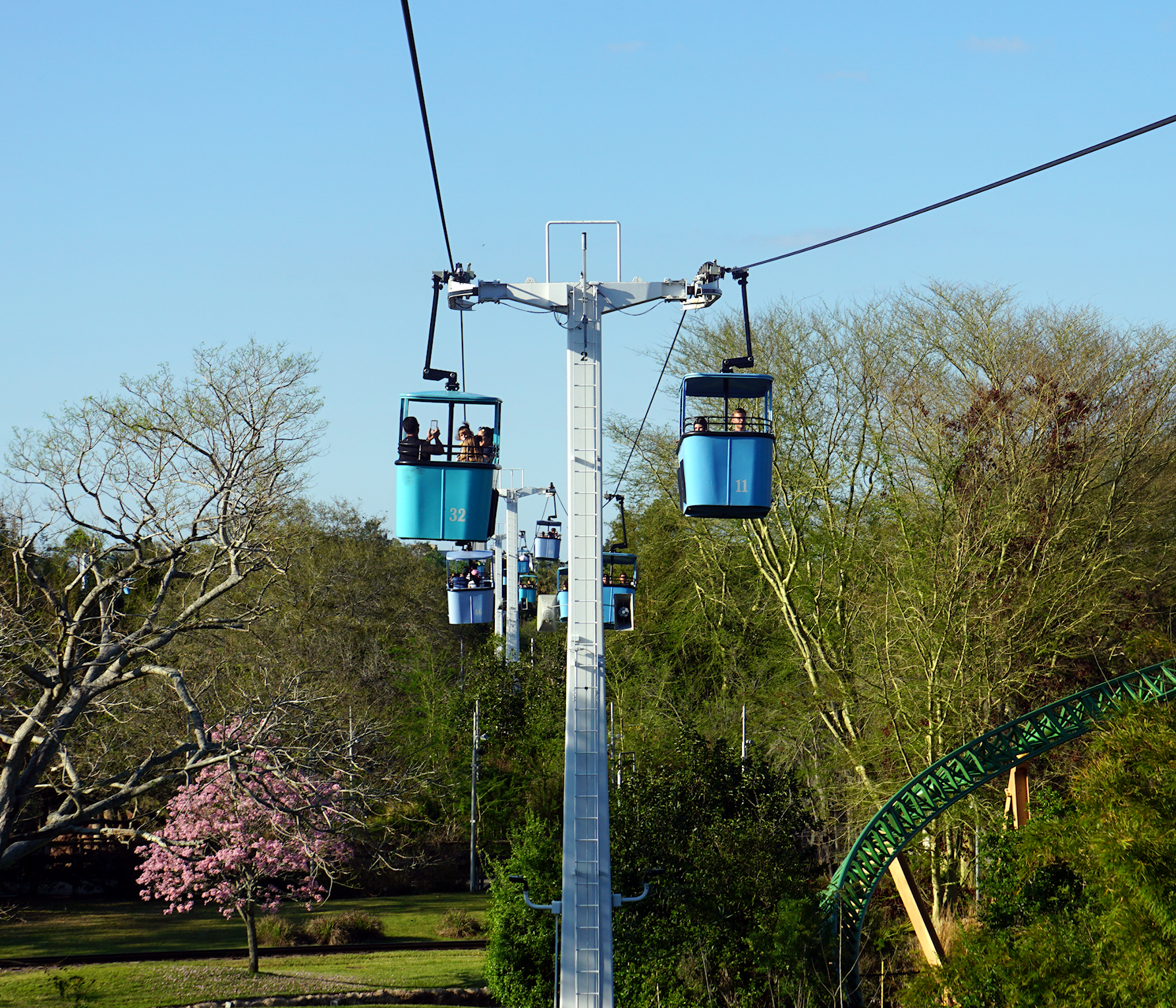 Sky Ride At Busch Gardens, Tampa, Florida. #rescue #animals #lilsusieq