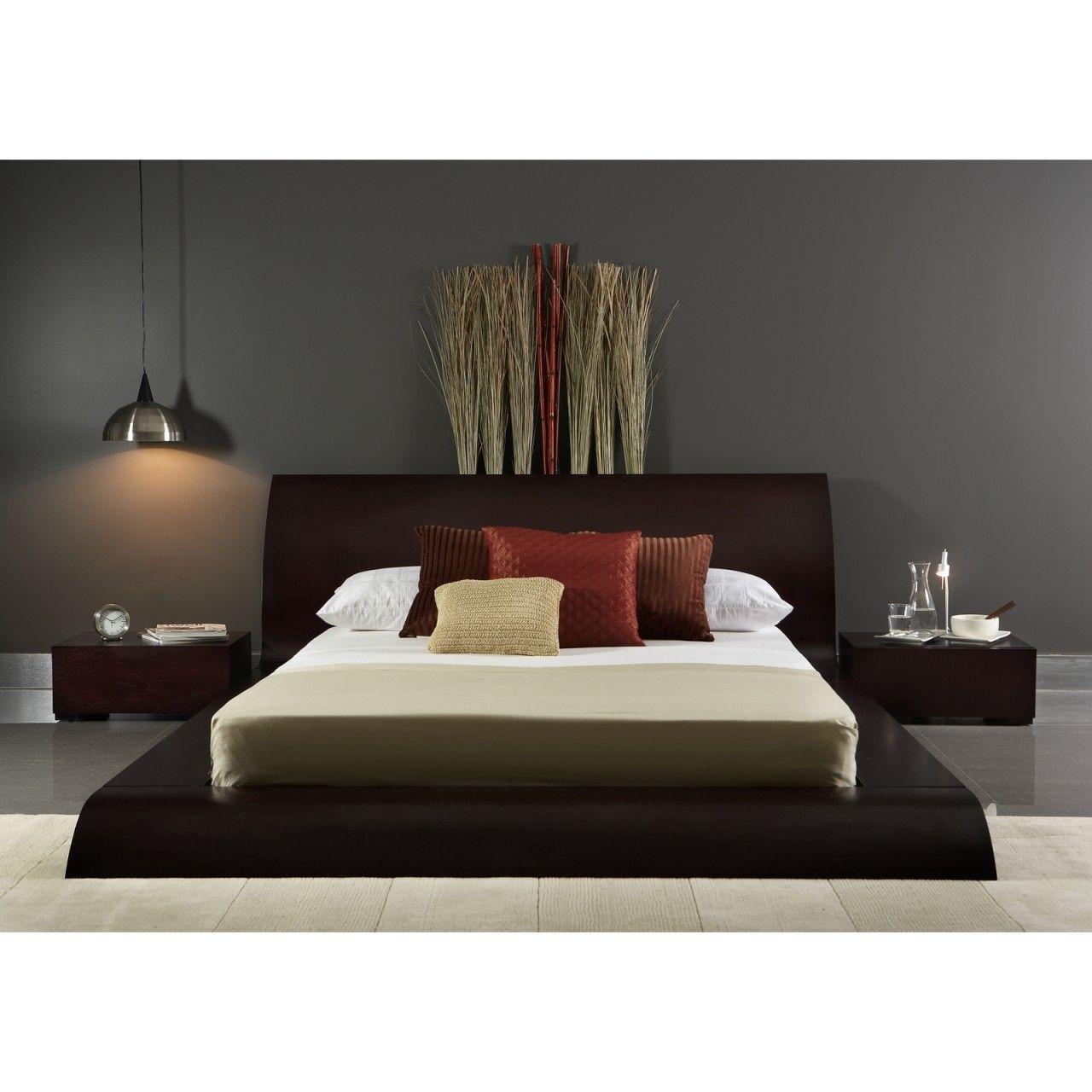 Modern Platform Bed Store - Waverly Platform Bed - Queen (Wenge ...