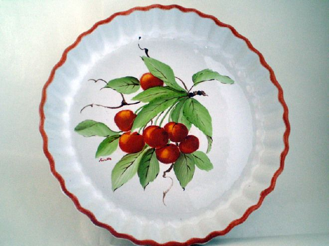 tortiera con ciliegie