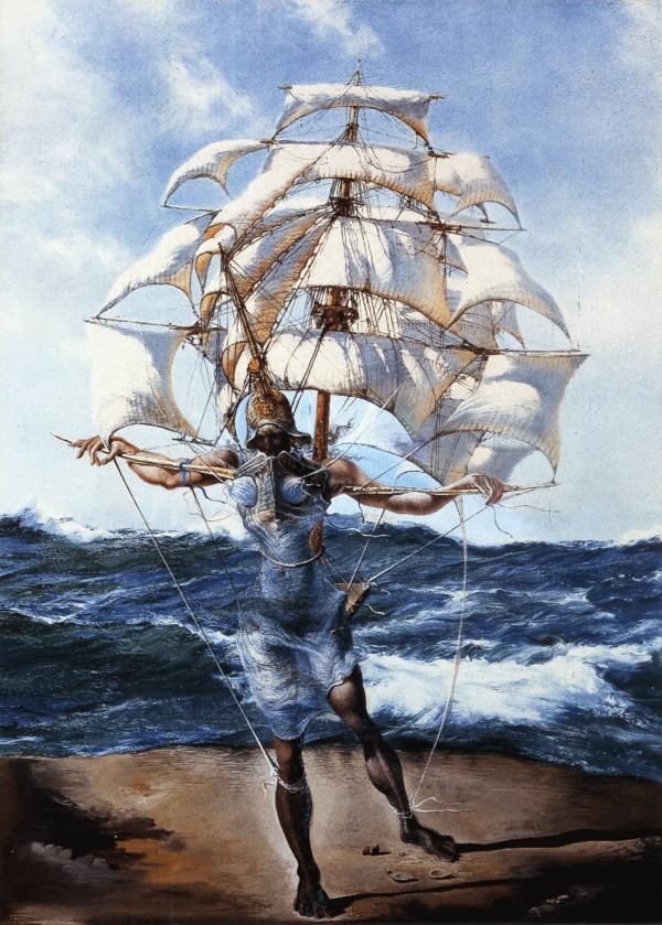 Reproduction De Dali Le Bateau Tableau Peint A La Main Dans Nos Ateliers Peinture A L Huile Sur Toile L Art Salvador Dali Salvador Dali Surrealisme