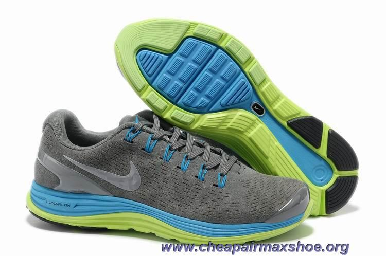 new product 8e48c fa53f Cheap 524977-007 Mens Suede Grey Blue Glow Silver Nike LunarGlide 4