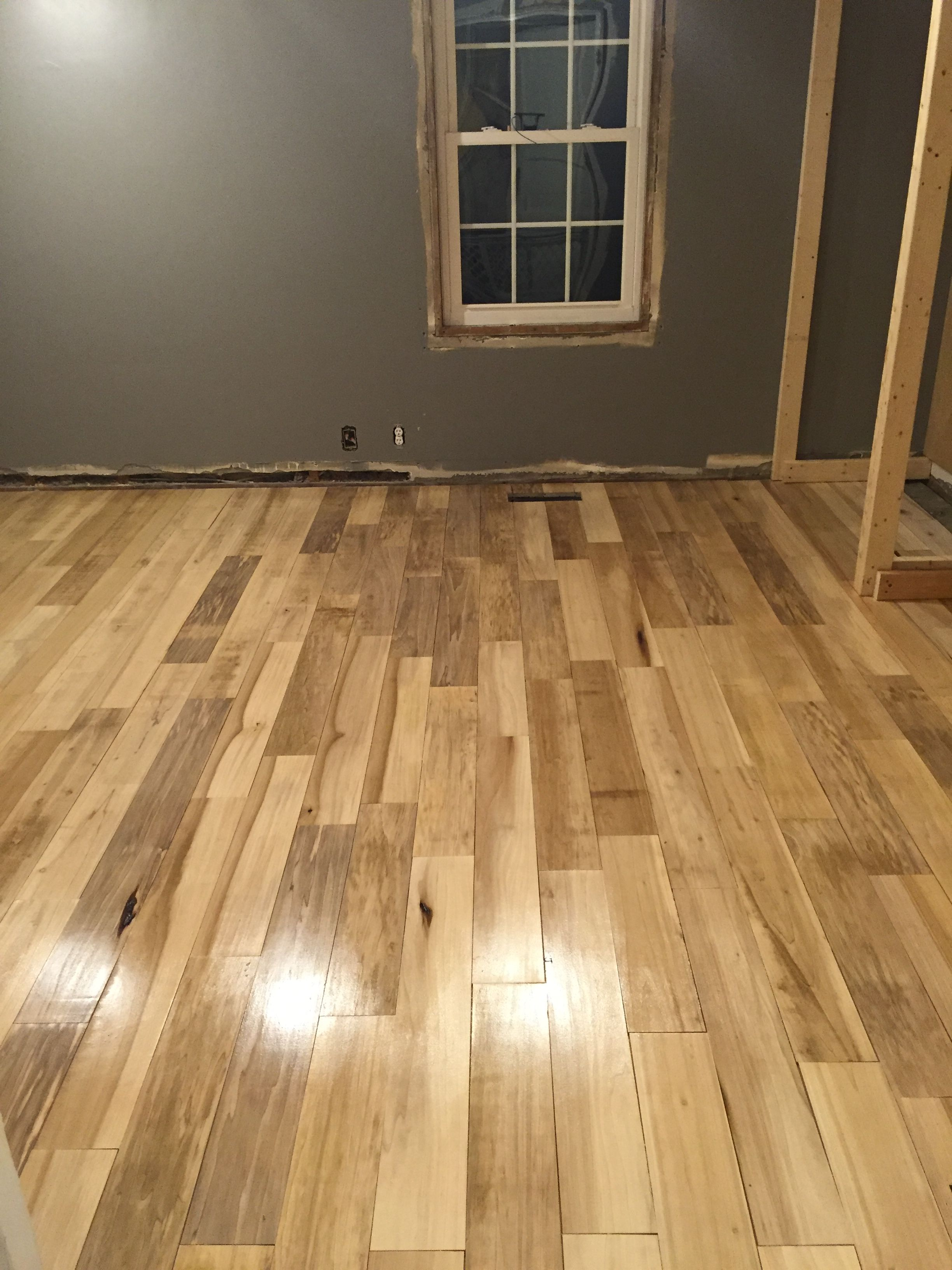 Poplar Floor We Put Down In Our Master Bedroom Flooring Cottage Living Next At Home