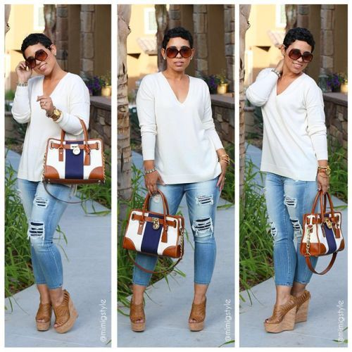 Mimi G | Fashion, Jeans and wedges, Casual