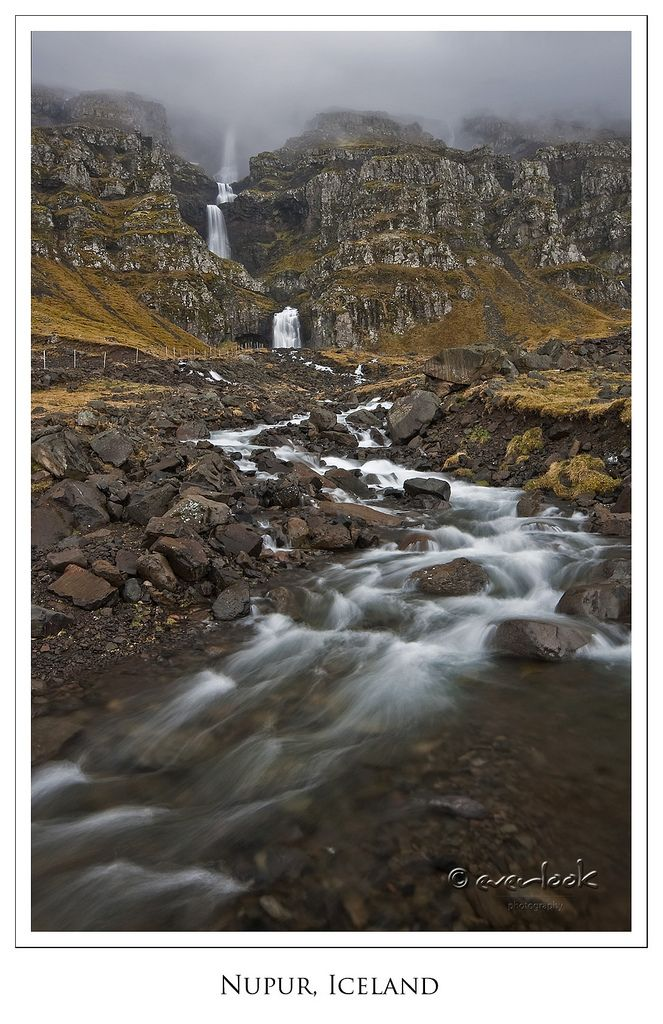 Unnamed falls from a little village of Nupur, East Fjords in Iceland