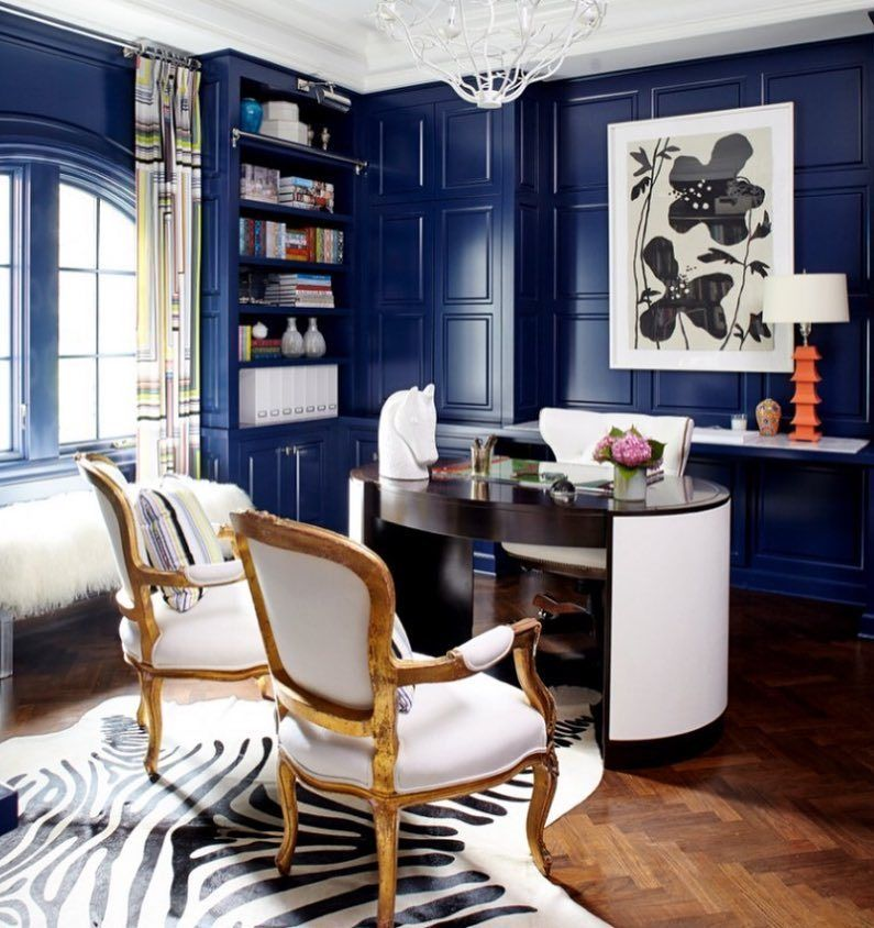 Home Office Decor, Blue Office