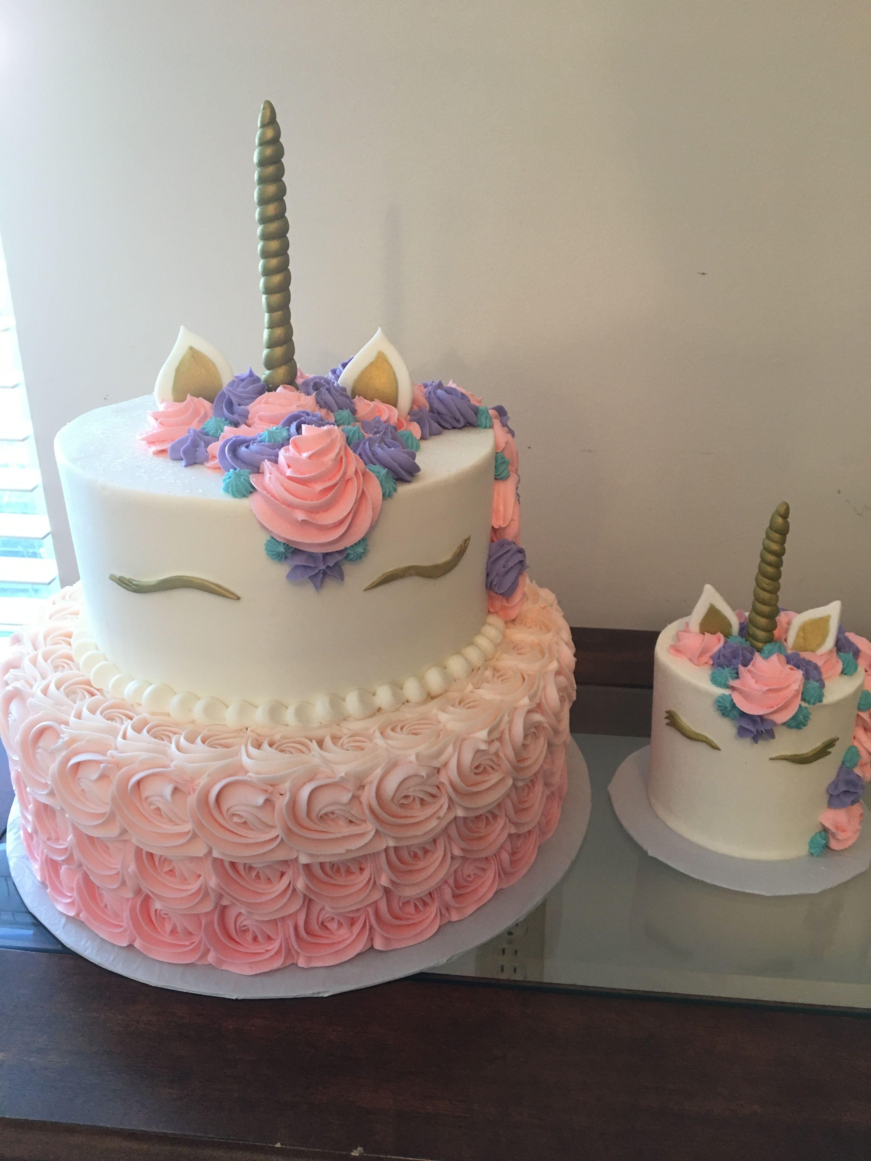 Unicorn Smash Cake Unicorn Birthday Cake Cake First Birthday Cakes