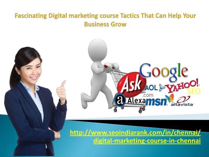 Fascinating Digital marketing course Tactics That Can Help Your - digital marketing job description