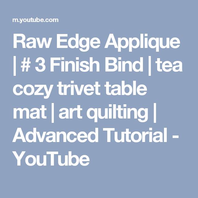 Raw Edge Applique
