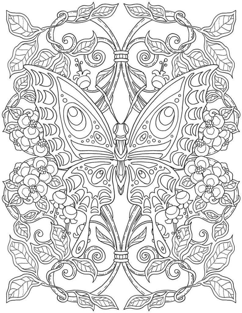 Ausmalbilder Für Erwachsene Schmetterling :  Marica Zottino 44 Photos Vk Coloring