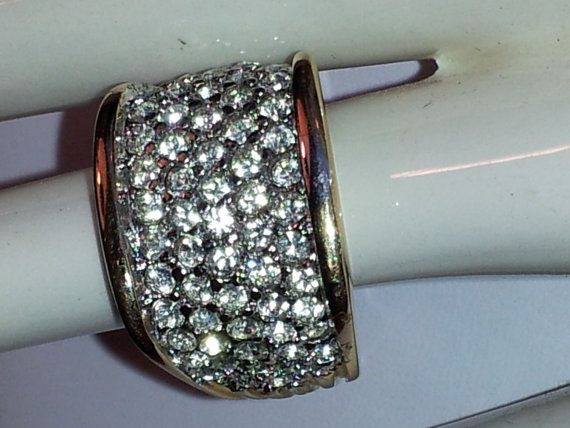 Vintage Ladies Blanco High Fashion Pave Approximate 3cttw CZ Size 10 Ring New Made In USA on Etsy, $40.40 CAD