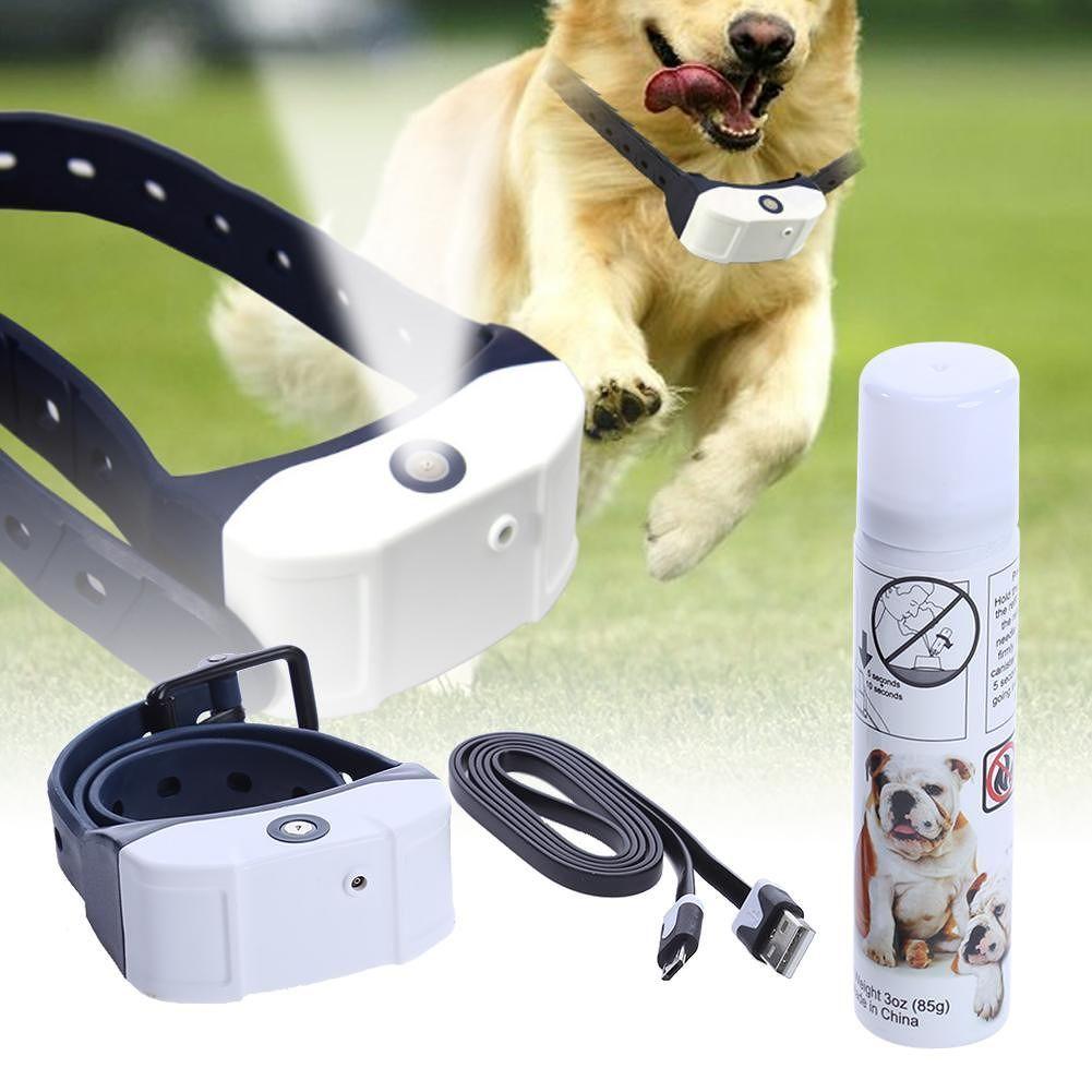 Stop Barking Rechargeable Citronella Dog Collar Anti Bark Train