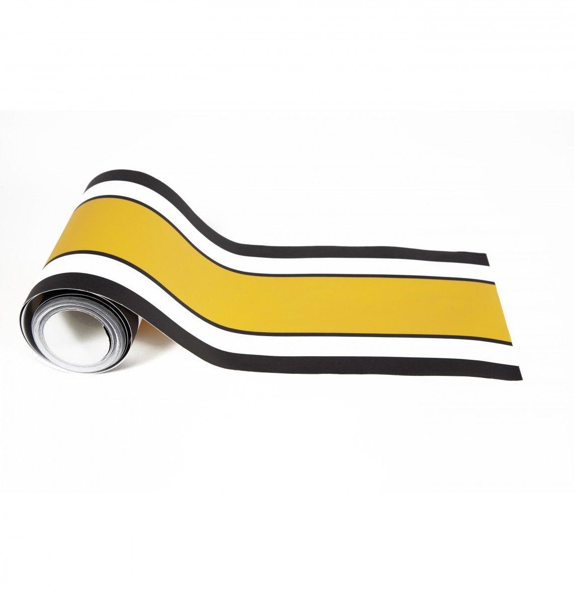 frise jaune frise murale maison sarah lavoine et murale design. Black Bedroom Furniture Sets. Home Design Ideas