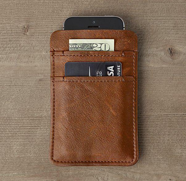 Italian Leather Slip Wallet For Iphone® 5/5s/6/6s/6 Plus/6s Plus