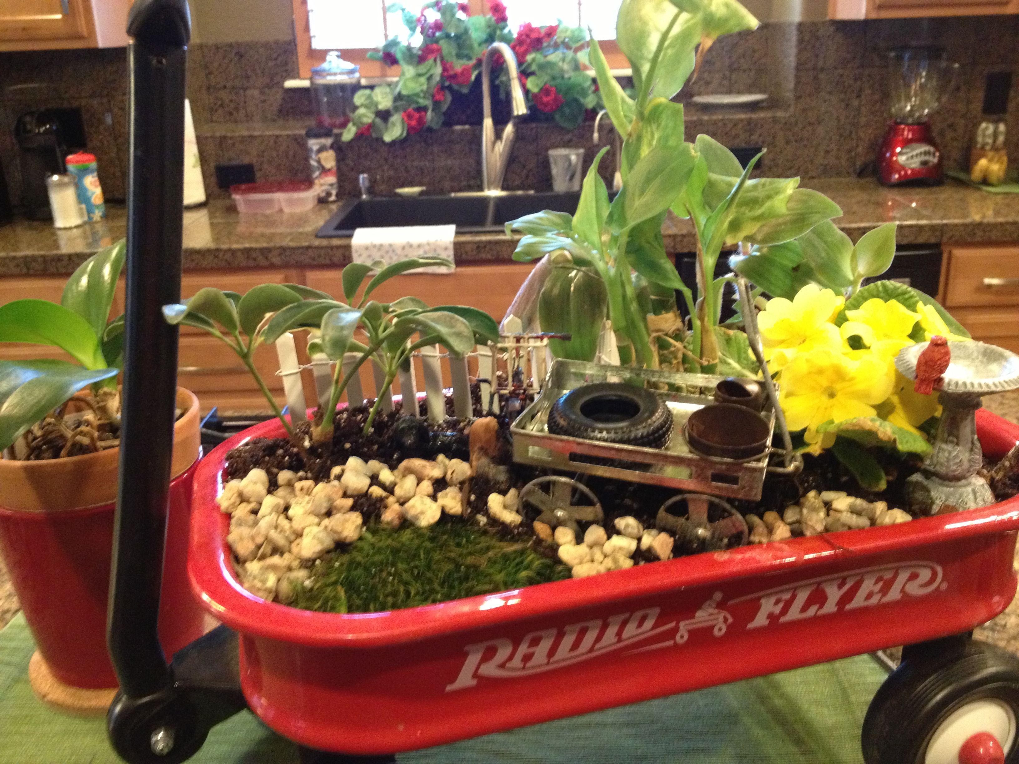 Fairy garden in a Radio Flyer red wagon. | Fairy Gardens | Pinterest ...