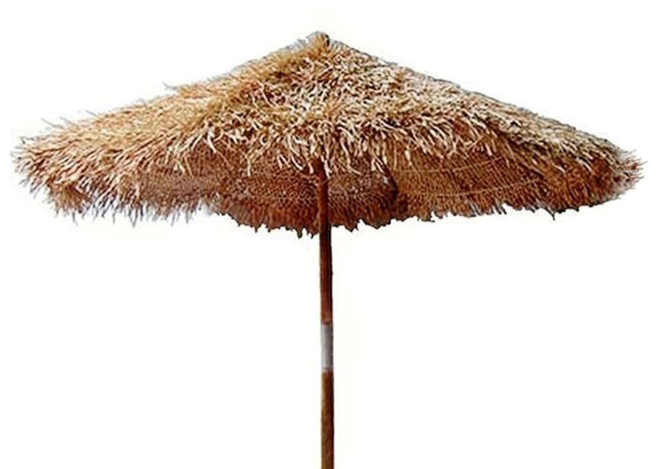 Exceptional Bamboo/Thatch Tiki Umbrella For Patio Bar/Palapa Set Choice Of 3 Sizes U0026  Stand