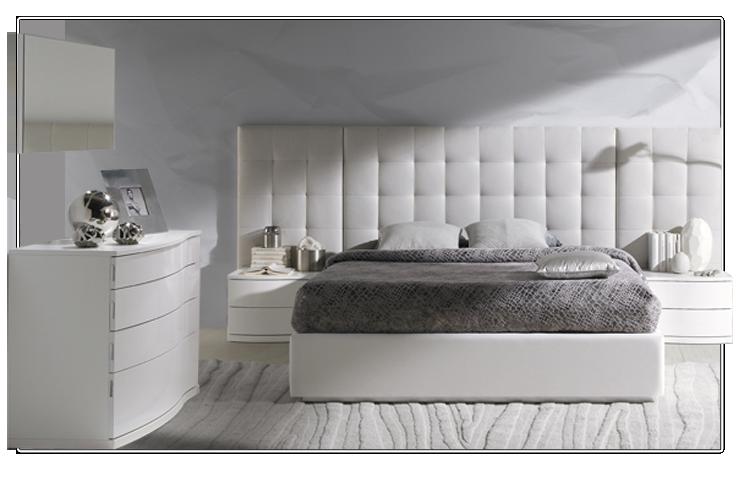 Dormitorio de matrimonio con cabecero tapizado   Dormitorios ...