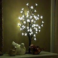 17 7 Cherry Blossom Bonsai Tree With 60 Led Lights Qvc Com Cherry Blossom Bonsai Tree Cherry Blossom Light Tree Bonsai Tree