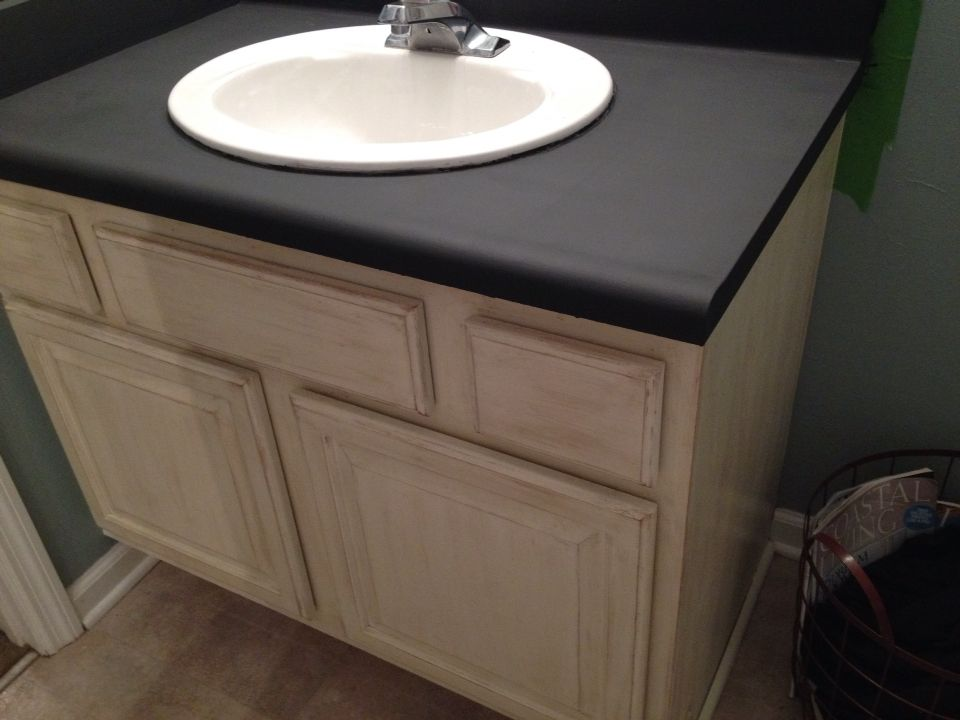 Annie Sloan Graphite 3 Coats Counter Tops Sealed With General
