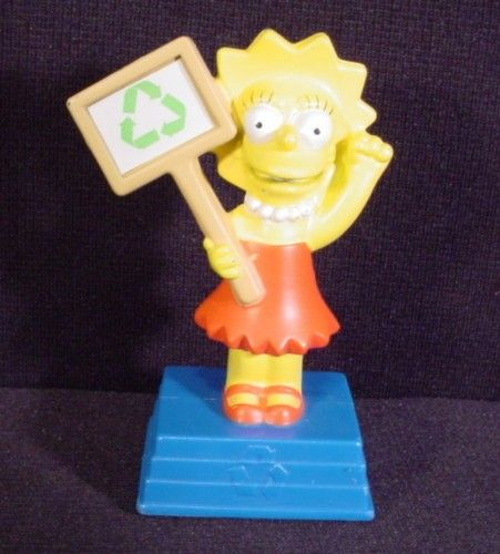 The Simpsons 2007 Talking Lisa Figure Toy 3 1 2 Burger King The Simpsons Toys Disney Toys