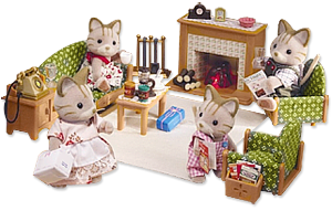 Calico Critters Deluxe Living Room Set · Lps ToysSylvanian FamiliesLiving  ...