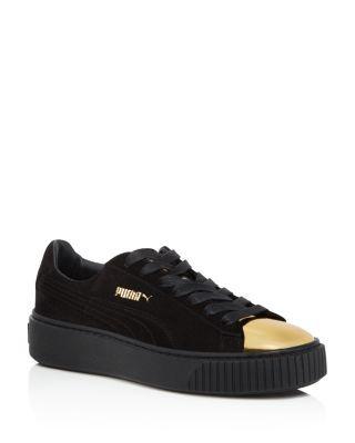 58b4e761adfa PUMA Suede Metallic Cap Toe Platform Sneakers