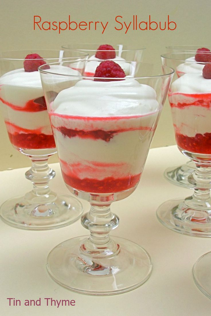 Check out Raspberry Syllabub with Vanilla Chardonnay ...