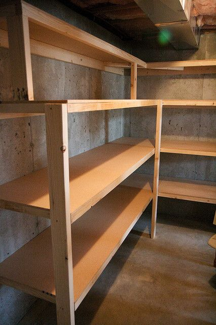 Storage room shelves storage room shelves and storage for Basement storage ideas