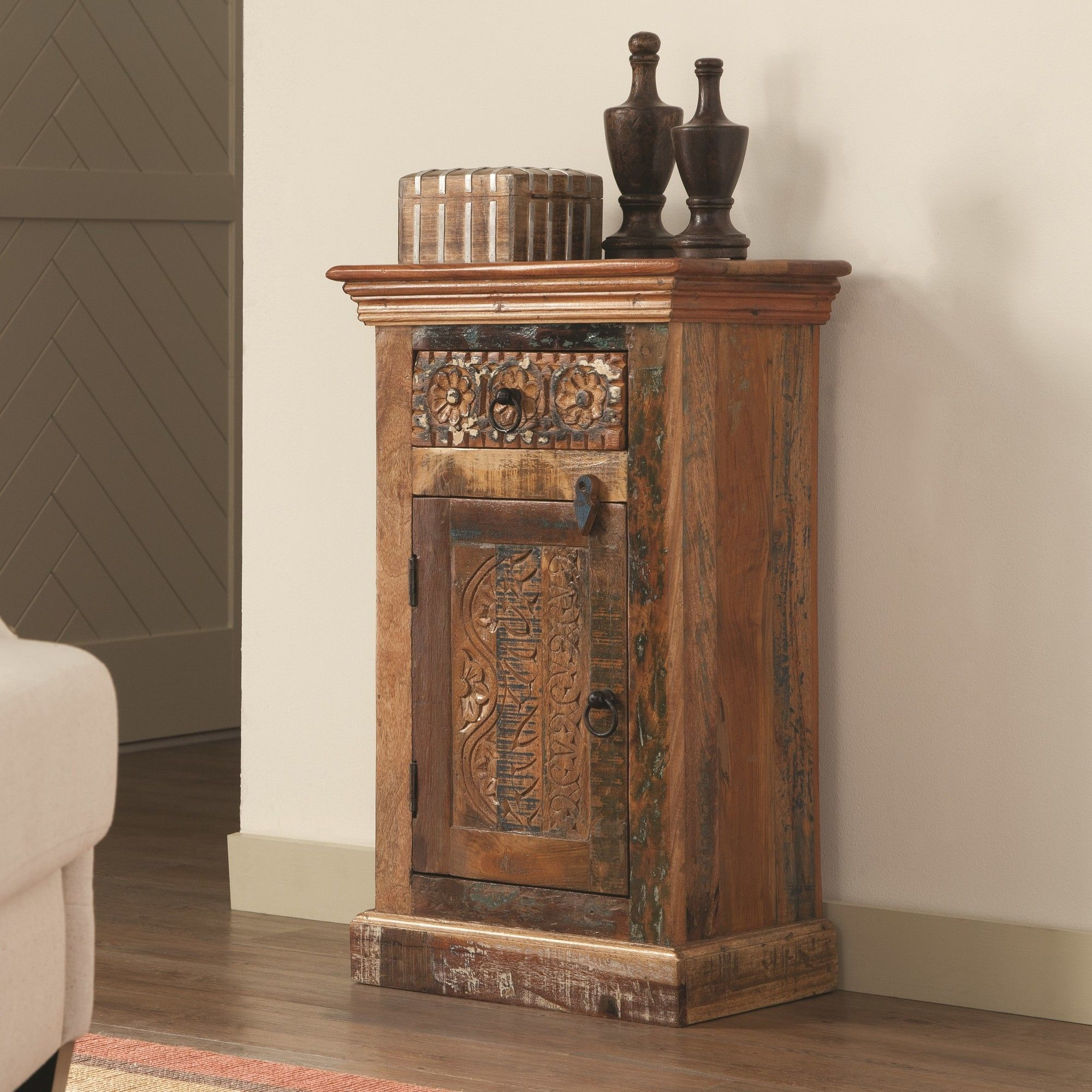 rustic storage cabinets. Morrow Reclaimed Wood 1 Drawer Door Accent Cabinet Rustic Storage Cabinets