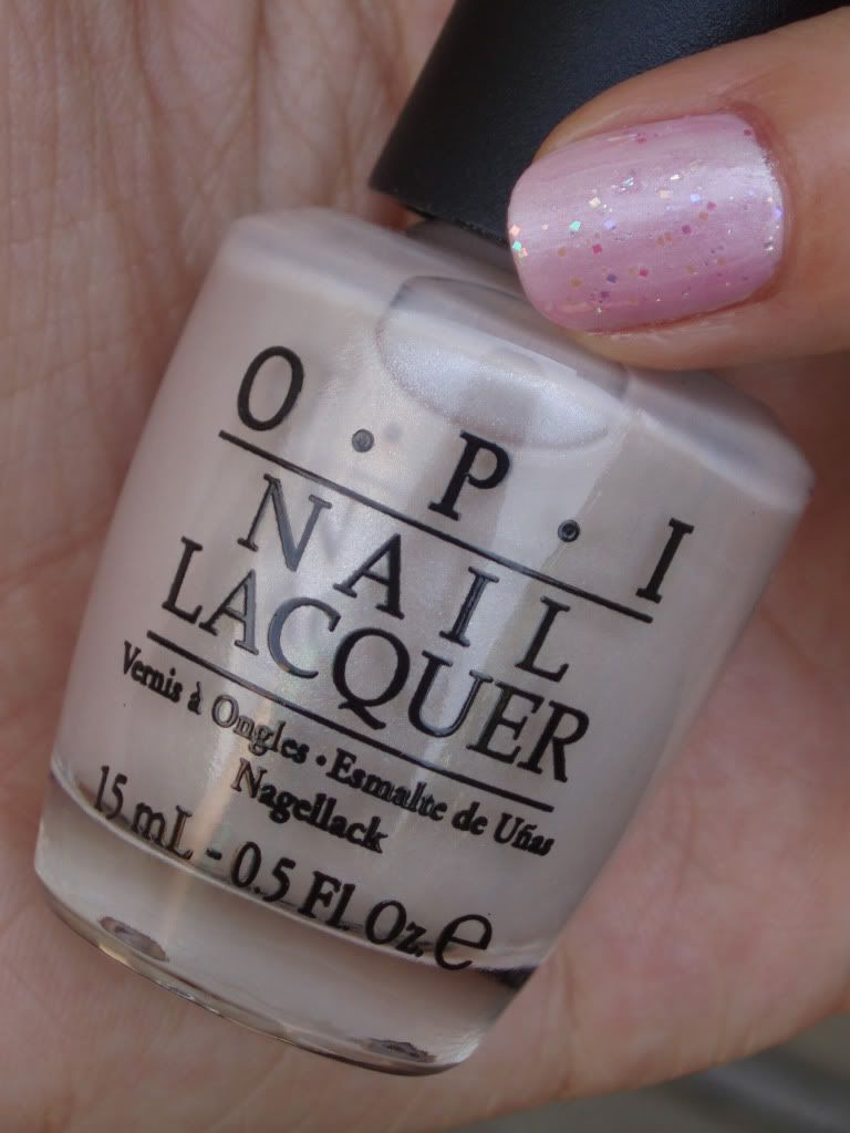 OPI Play With Peonies with I Lily Love You