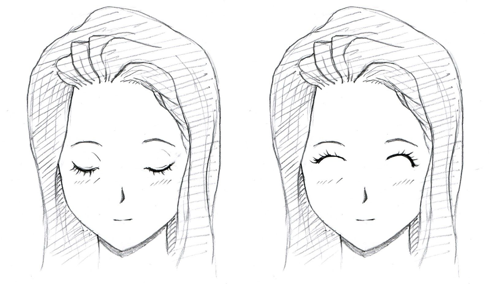 How To Draw Closed Eyes Anime - Google Search