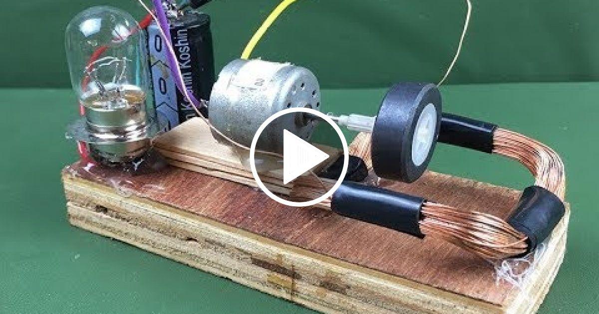 100 Free energy self running machine generator using dc