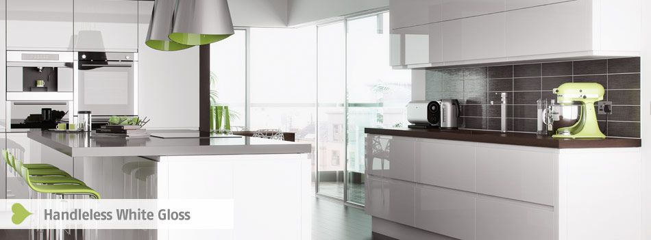 Delightful Trend Handless White Gloss Kitchen At West London Kitchen Design Part 14