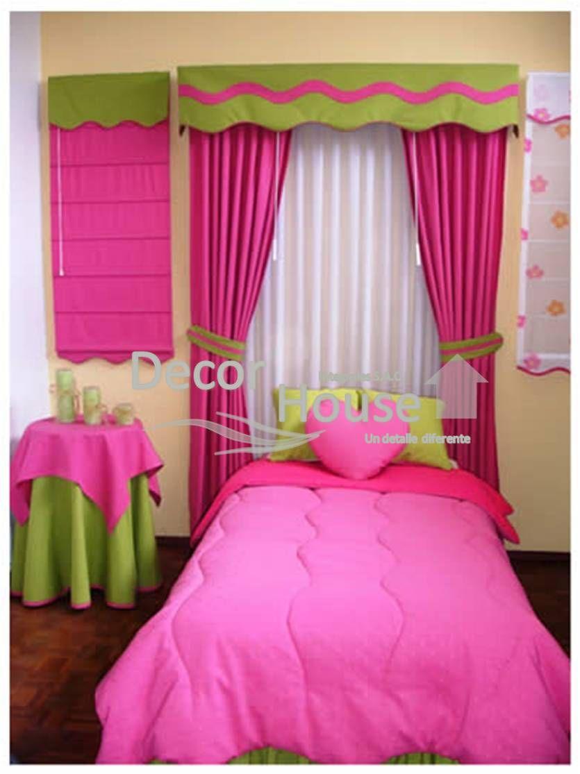 Modernos dise os de cortinas para ni os for Dormitorio ninos diseno