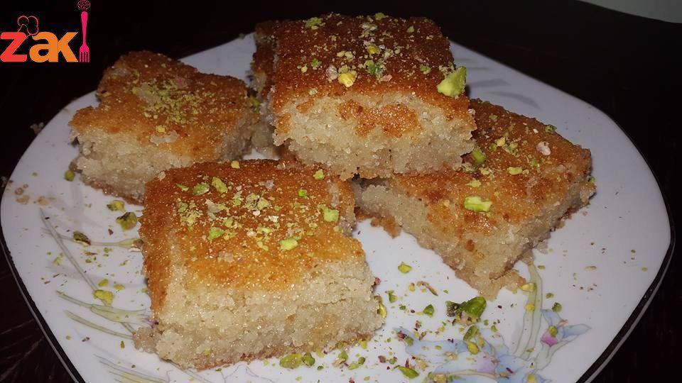 طريقة عمل الهريسة السورية زاكي Food Desserts Yummy