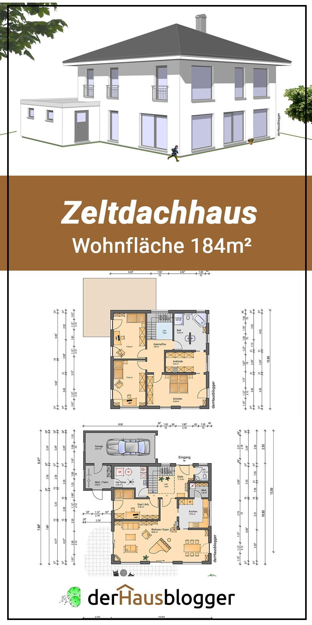 Photo of Floor plan tent roof house 184m2 A young couple came up to me in this 184 m² si…