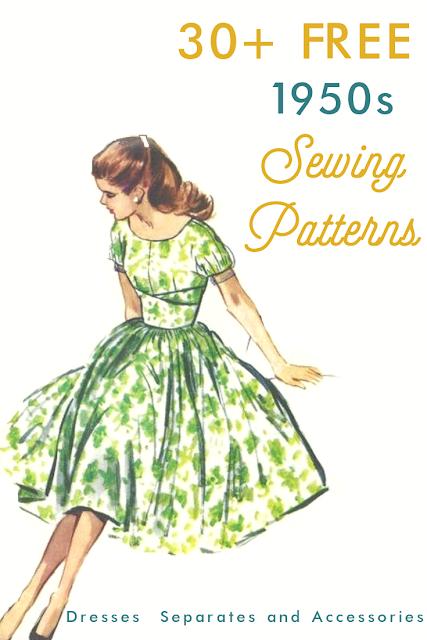 30 Free 1950s Sewing Patterns Fashion Sewing Pattern Sewing Patterns Free Dress Sewing Patterns