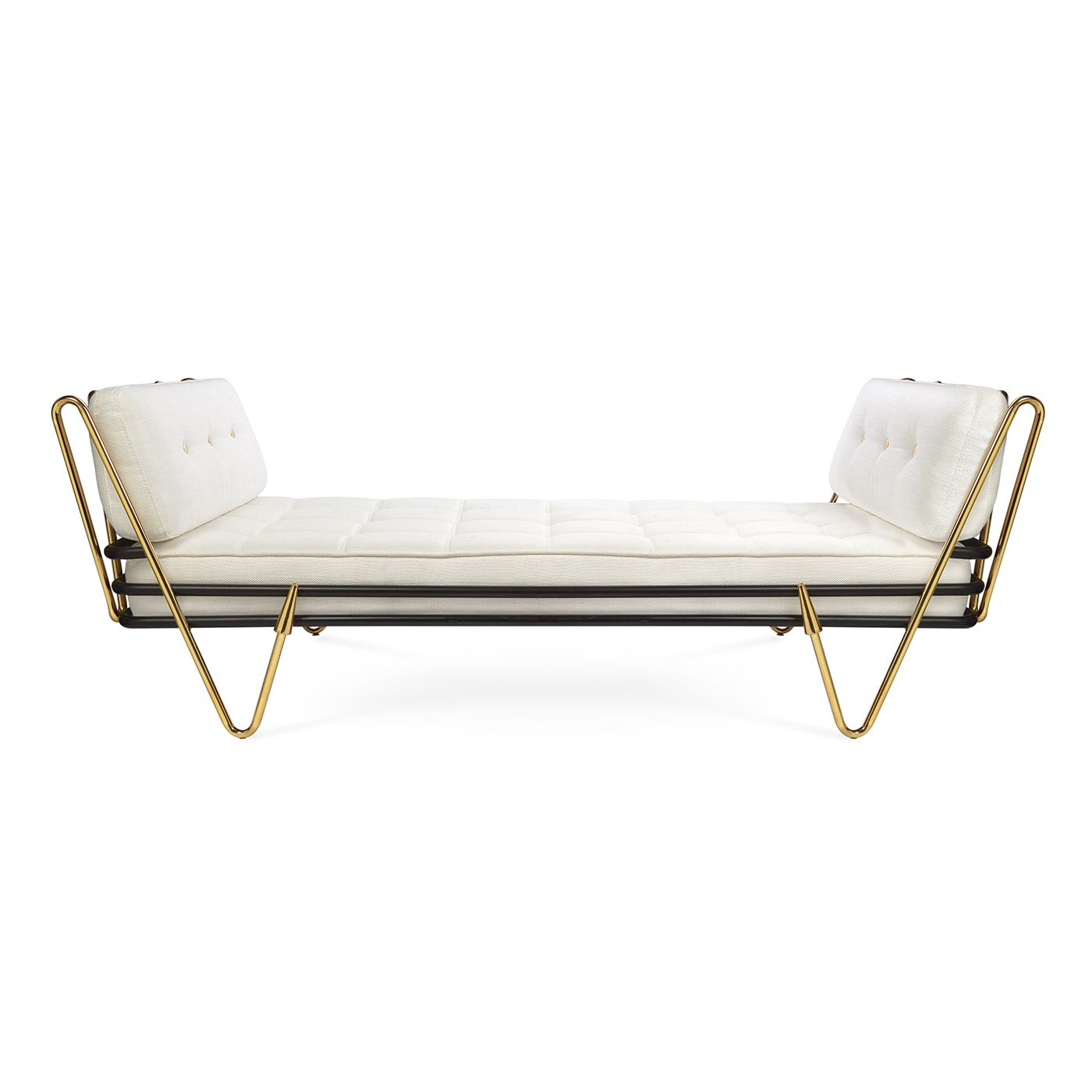 modern daybed. Modern Elegance.Sinuous, Sculptural, Surprising\u2014our Maxime Daybed Hits All The Right Notes. A Gleaming Brass Frame Cradles Gracious And Soft Cushion