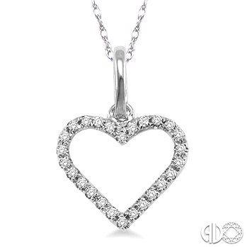 Valentinesday2016 110 ctw round cut diamond heart shape pendant in valentinesday2016 110 ctw round cut diamond heart shape pendant in 10k white gold with chain aloadofball Gallery