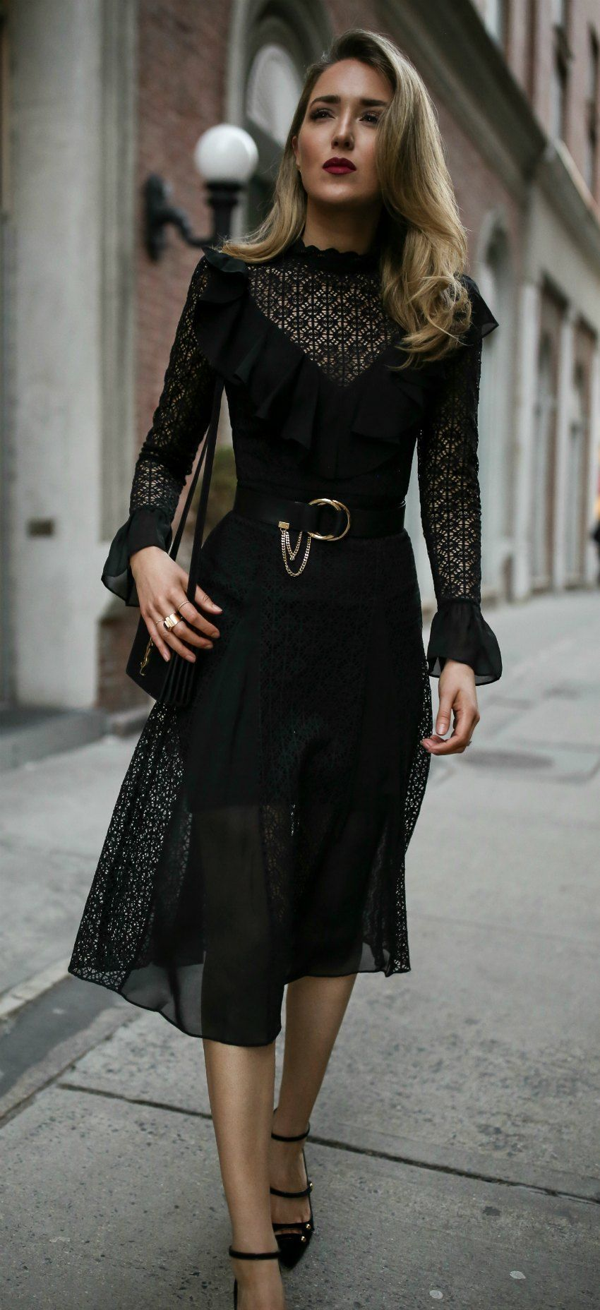 Black lace midi dress black lace ruffled midi dress black patent