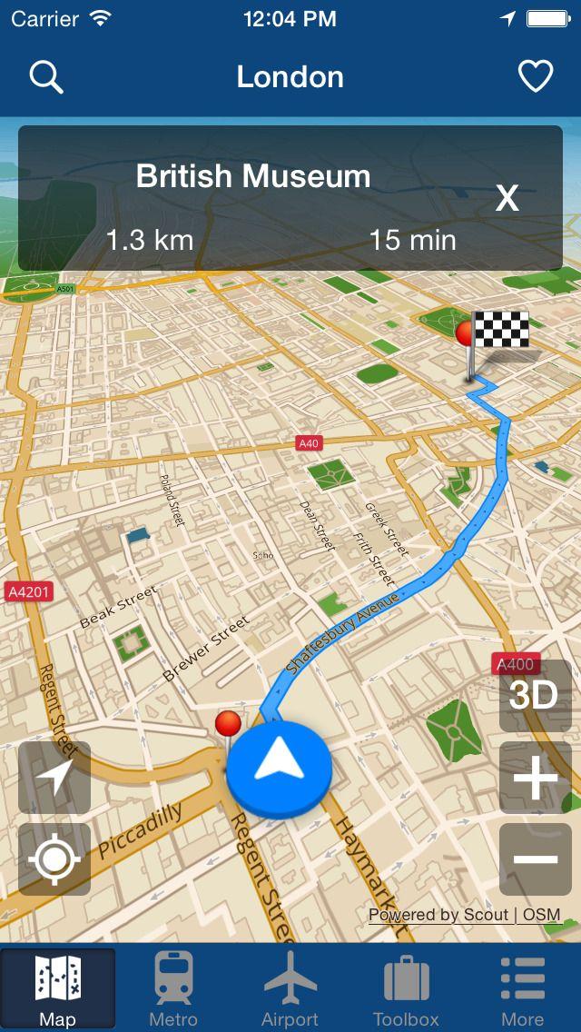 iPhone App London Offline Map - City Metro Airport | daily