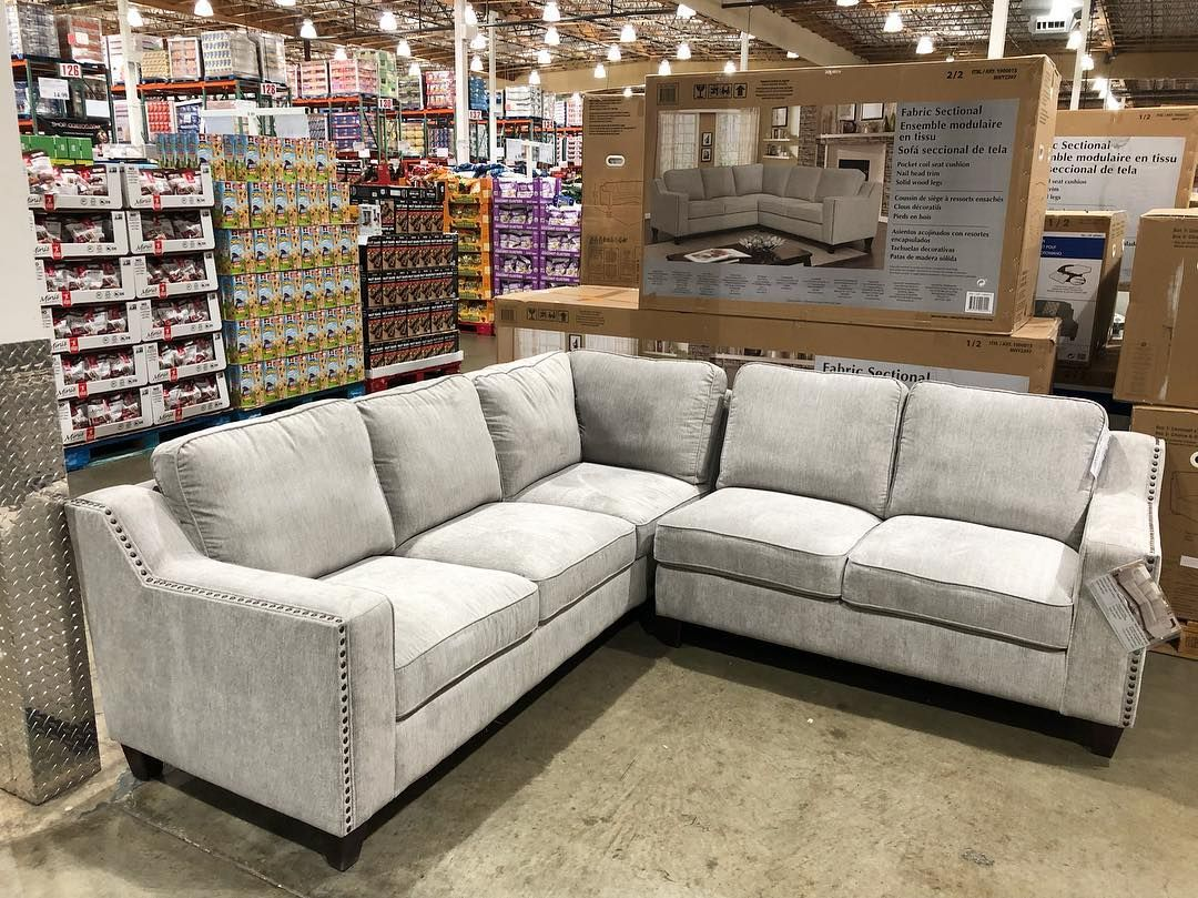 Costco Deals On Instagram Love The Color And The Style Of This Beautiful Sectional Couch Wi Costco Sectional Sectional Sofas Living Room Costco Furniture