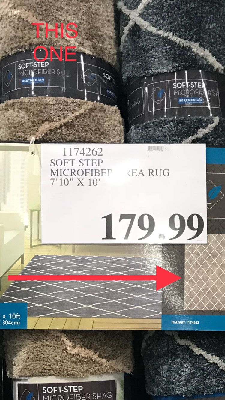 "Costco Throw Blanket 7'10"" X 10' Beige Soft Step Microfiber Rug At Costcoon Sale $139"