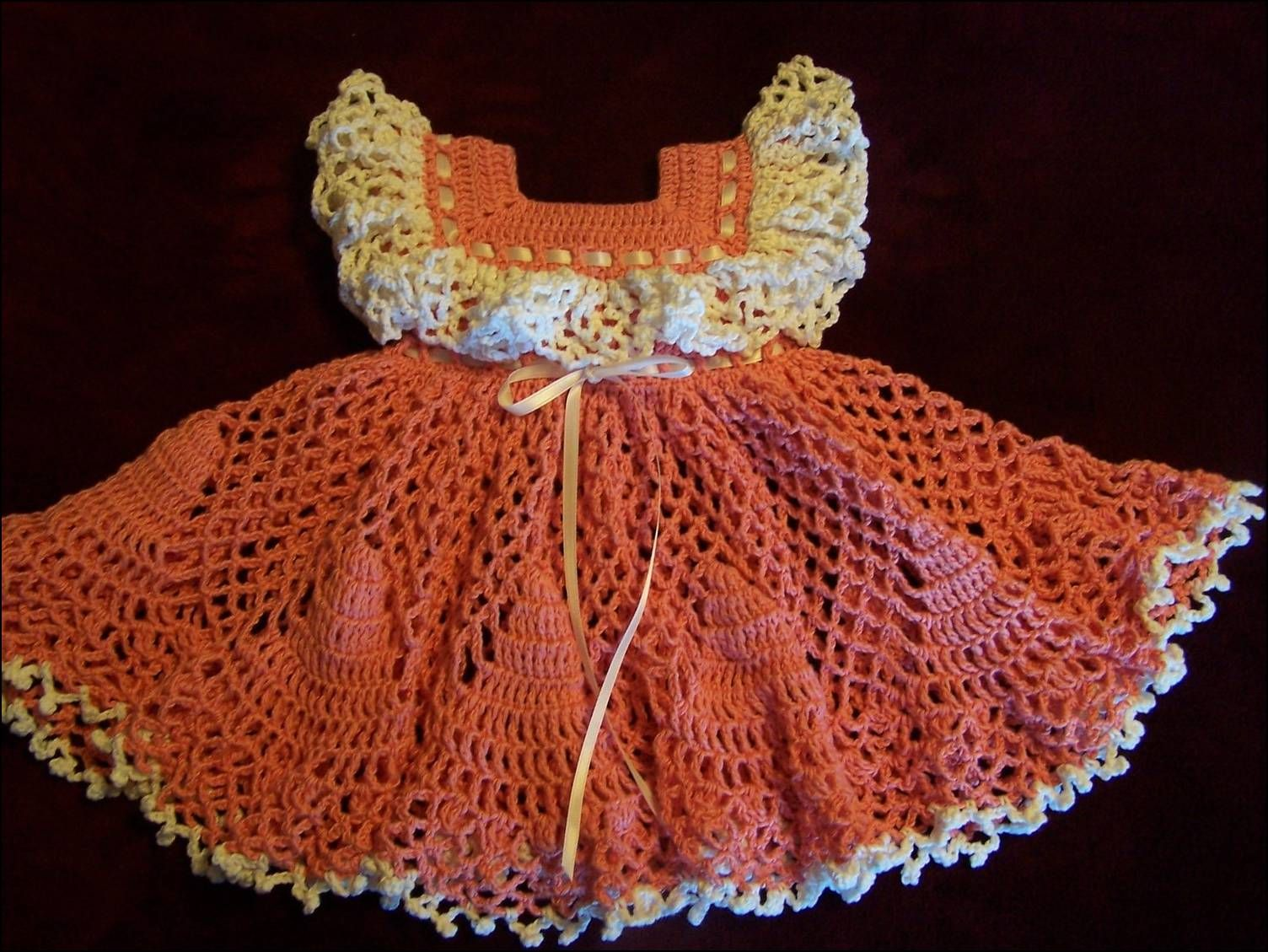 Trendy kids crochet frocks crochet baby dresses pinterest crochet baby dress patterns for free there was time when crochet creations were on the top of art creations accessories made with crochet used to be the bankloansurffo Gallery