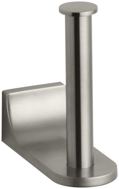Kohler K 11583 Loure Single Post Vertical Toilet Paper Holder
