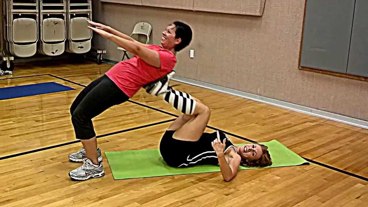 Crazy fun and intense partner workout try it partner