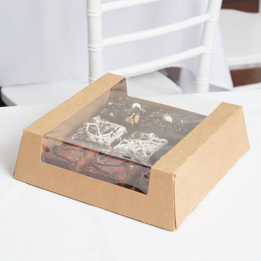 8 x 8 x 2 12 kraft autopopup window pie bakery box