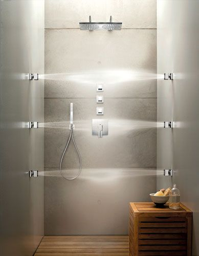 Showers With Multiple Jets | o2 Pilates