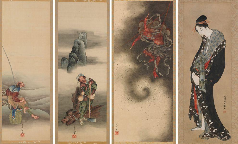 A great wave of hokusai with images hokusai
