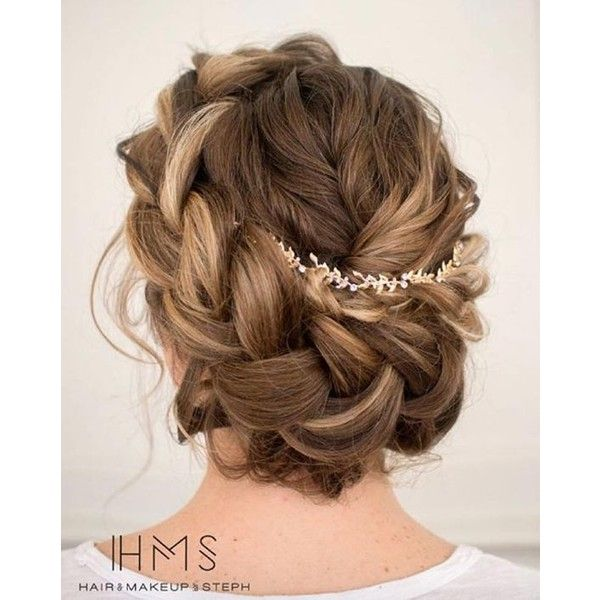 40 Gorgeous Wedding Updos For 2016 STYLE SKINNER ❤ liked on Polyvore featuring accessories, hair accessories, hair, crown hair accessories, braid crown, rose hair accessories, vintage hair accessories and bohemian hair accessories