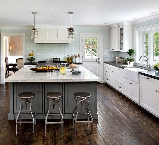 Benjamin Moore Colors For Kitchen: Gray Kitchen Island Benjamin Moore Amherst Gray Benjamin